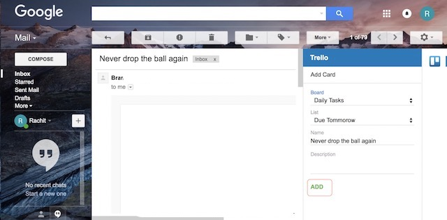 Use Gmail Add-ons - step 3