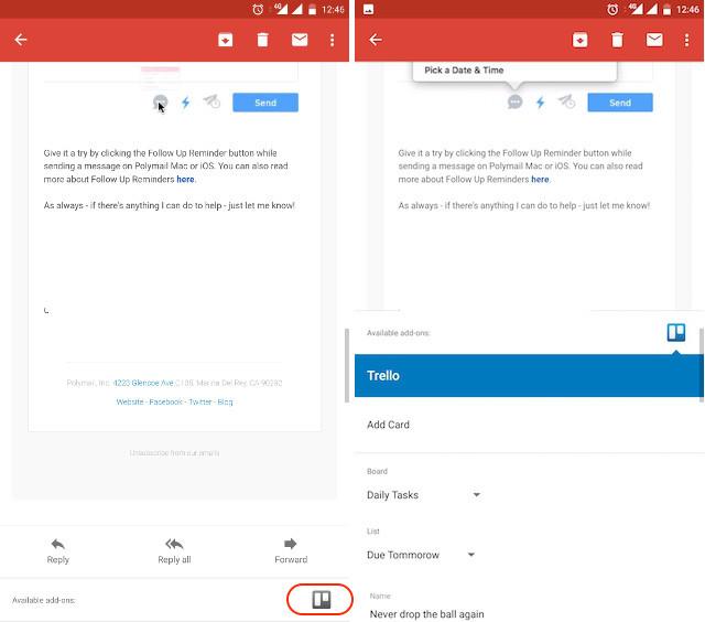 Verwenden Sie Google Mail-Add-Ons - Schritt 4