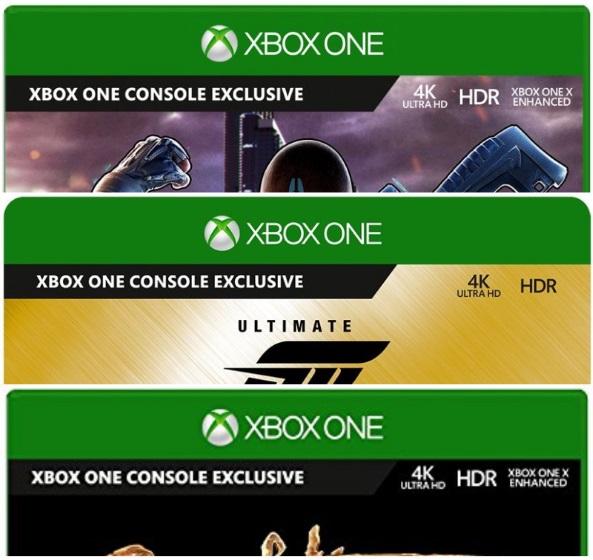 Xbox One X Enhanced 4K HDR Tags