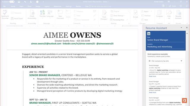 resume assistant linkedin