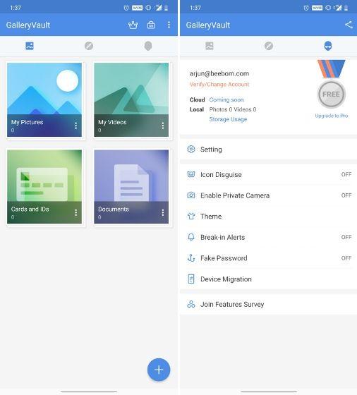 8. GalleryVault - Aplikasi Sembunyikan Foto Dan Video di Android