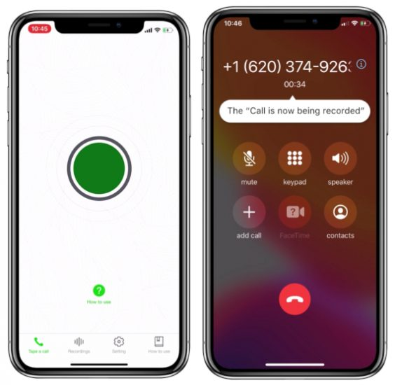 9. Регистратор звонков для звонков iPhone