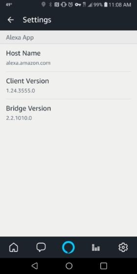 Alexa on Android app