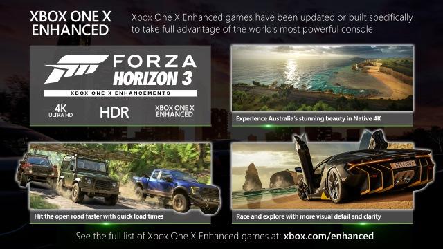 Forza Horizon 3 Xbox One X Enhanced