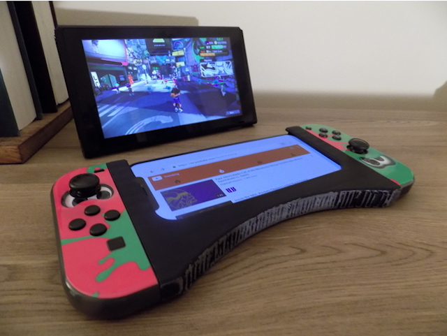 Nintendo switch with phone