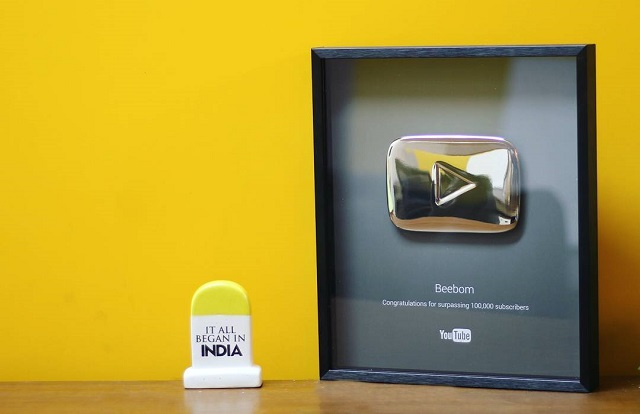 Beebom Youtube Silver Play button
