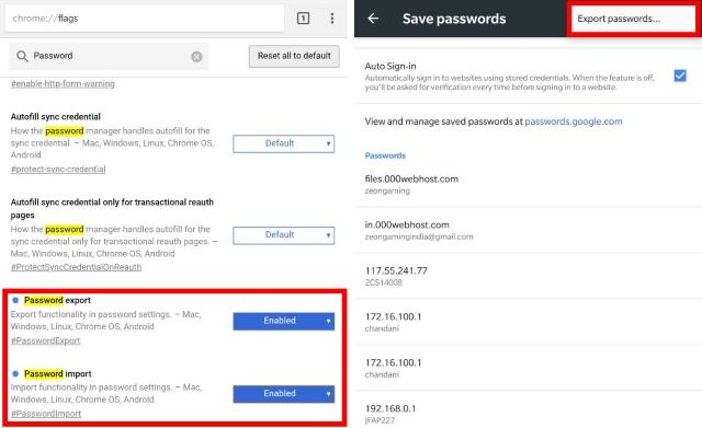 Export Passwords Chrome Canary Dev Tutorial