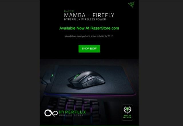 Razer HyperFlux Mamba Firefly Official Poster