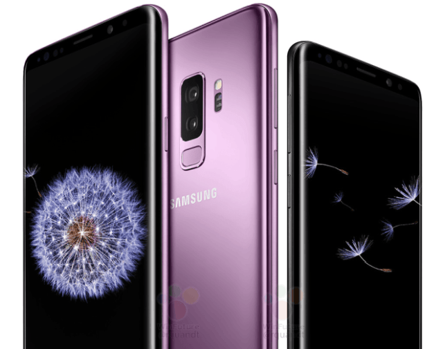 Galaxy S9 colours and display
