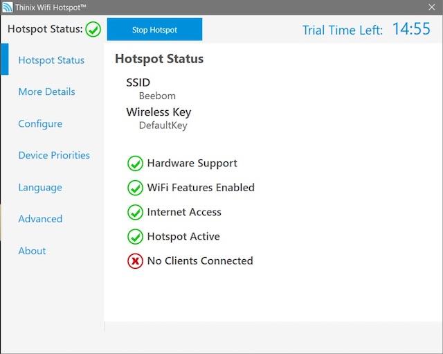 Thinix WiFi Hotspot Creator