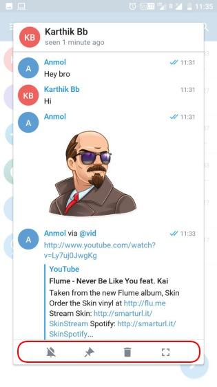 telegram x chat previews