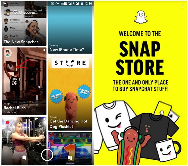 10. Buy Merchandise from Snap Store 1