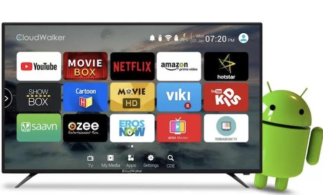 2. CloudWalker 4K LED Smart TV - CLOUD TV 55SU