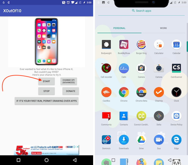 8. Get Android P Notch Emulator 1