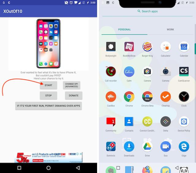8. Get Android P Notch Emulator 1