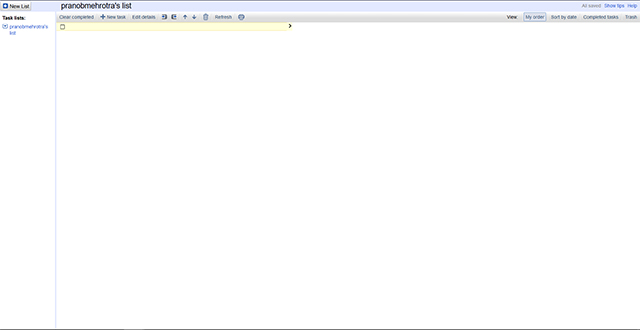 Google Tasks Current Interface