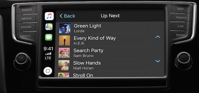apple carplay music