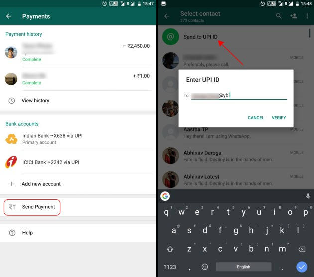 whatsapp payments 1