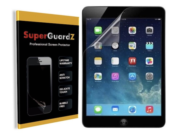5. SuperGuardZ 3-Pack Screen Protector for iPad 2018