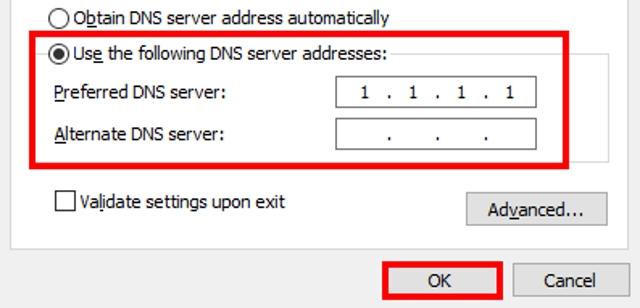 Cloudflare Windows Step 5