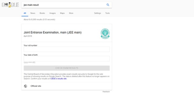 Google Partners with CBSE Exam Results And Other Info in Search in India
