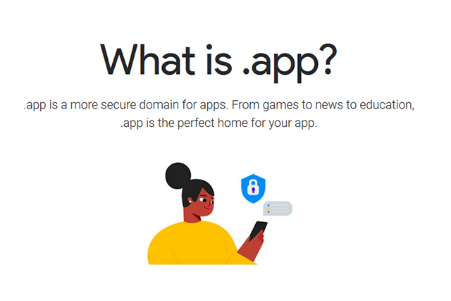 Google .app domain