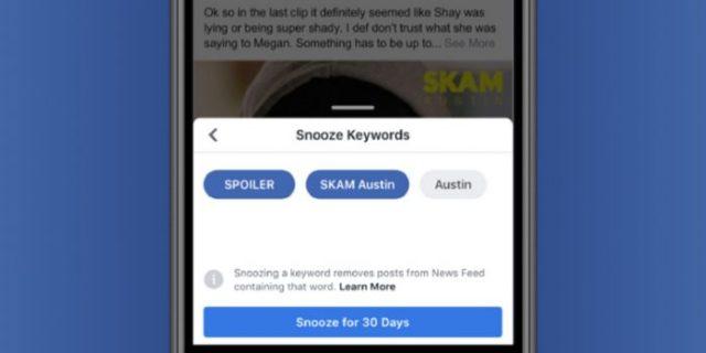 facebook mute keywords