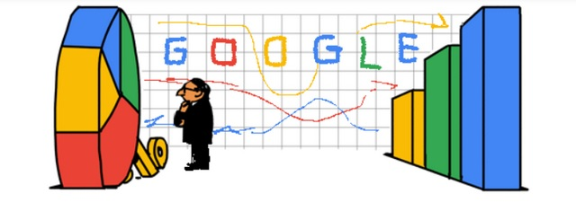 Early concepts of today's Google Doodle