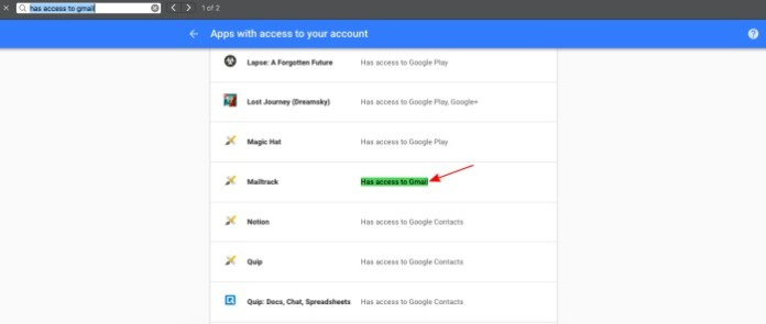 """""""has access to Gmail"""""""