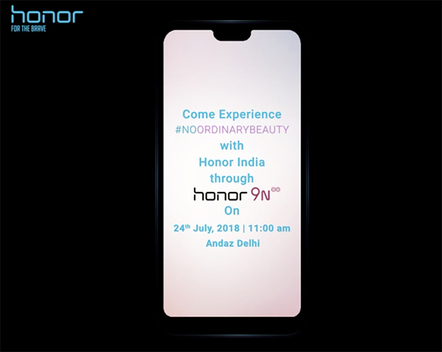 Honor 9N With Notch to be Launched in India on July 24, Likely to be Priced Under Rs. 15,000
