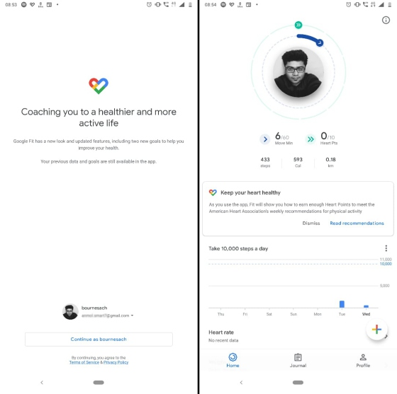 google fit redesign new new