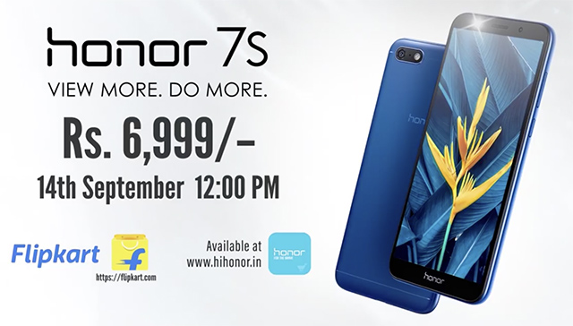 Honor 7S with 13MP Camera Launched in India at Rs 6,999
