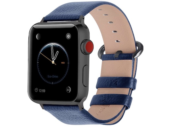 8. Fullmosa Leather Band for Apple Watch Series 4