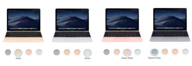 macbook air colors