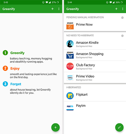Greenify - App Killers для Android