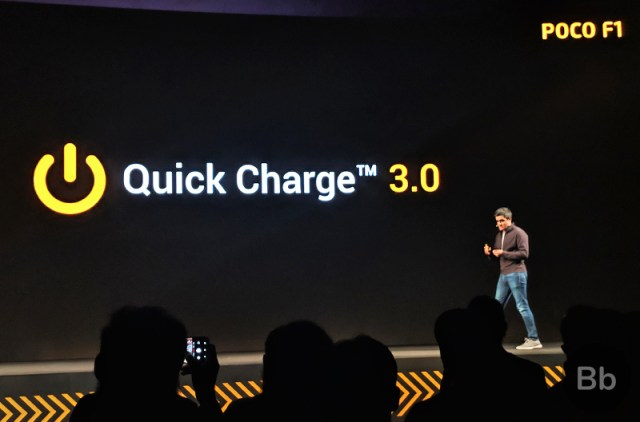 Poco F1 Supports Quick Charge 4+