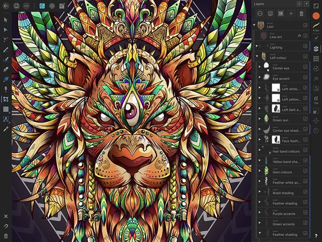 Affinity Designer - лучшие приложения Apple Pencil