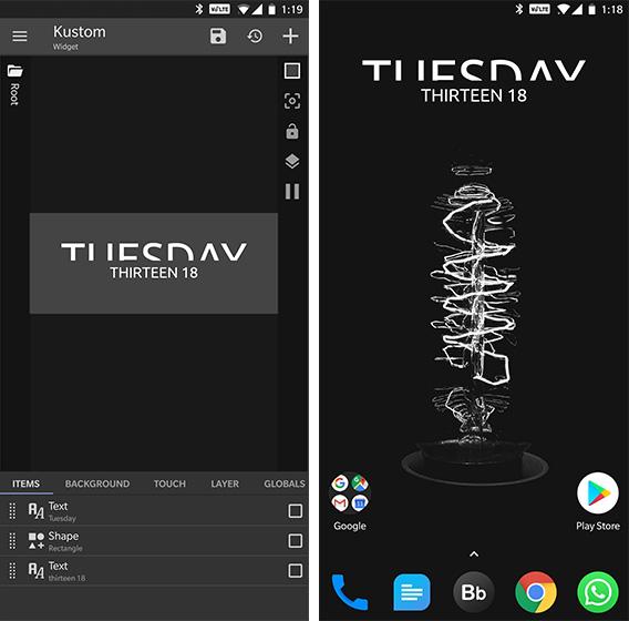 Agregar Widgets Android KWGT