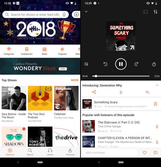 Castbox лучший подкаст приложение для Android наверняка