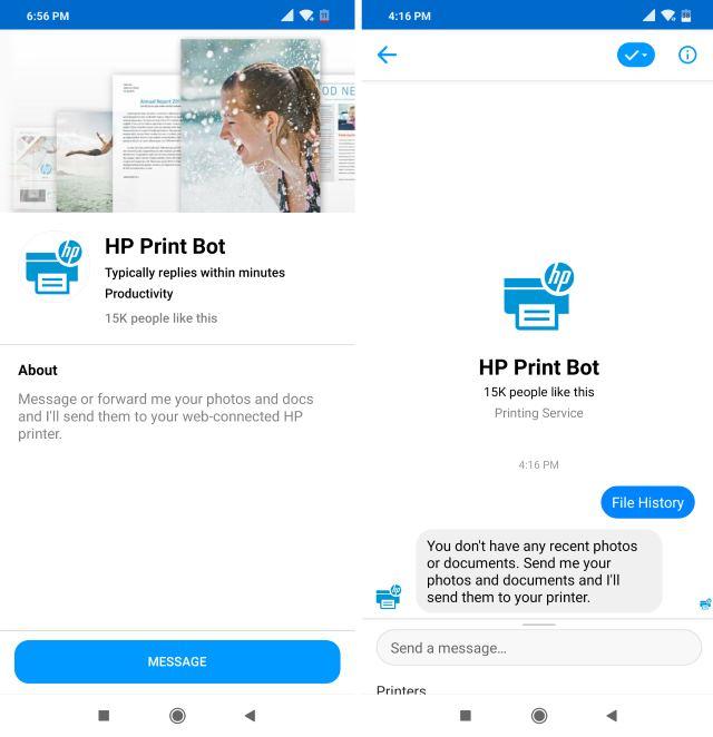 HP Print Chatbot