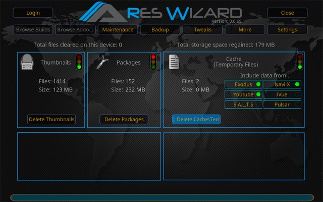 Kodi add-on add-ons addon addons ares wizard