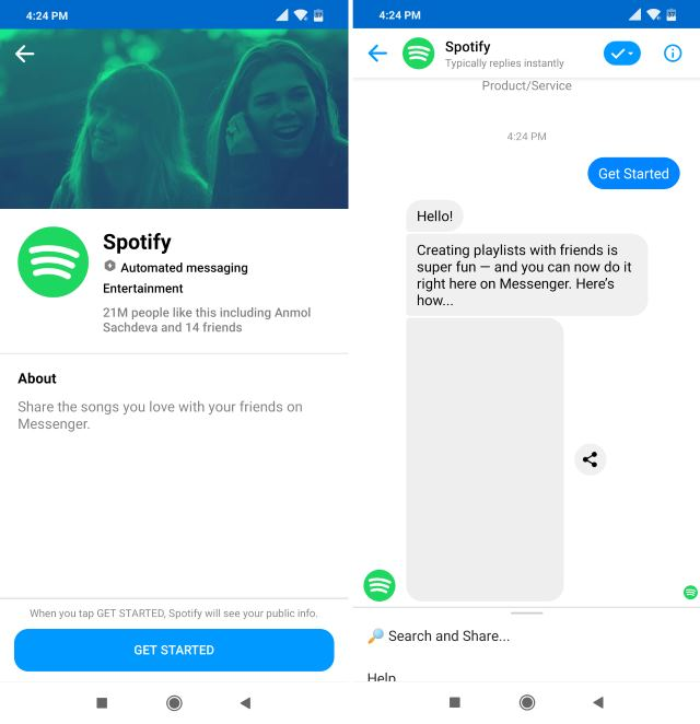 Spotify чатбот