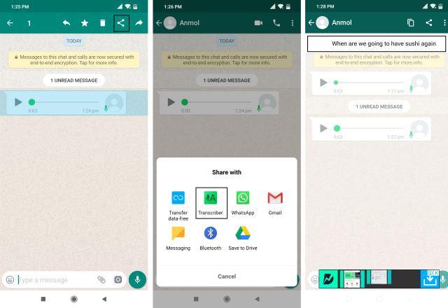 Приложение Transcriber для WhatsApp