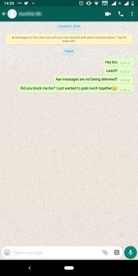 WhatsApp Blocked Contact