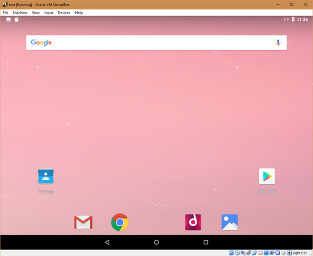 скриншот Android x86