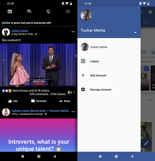 open source apps for Android frost facebook
