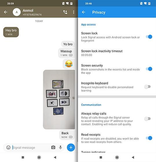Приложения с открытым исходным кодом для Android Messenger