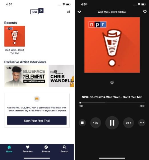 9. TuneIn Radio