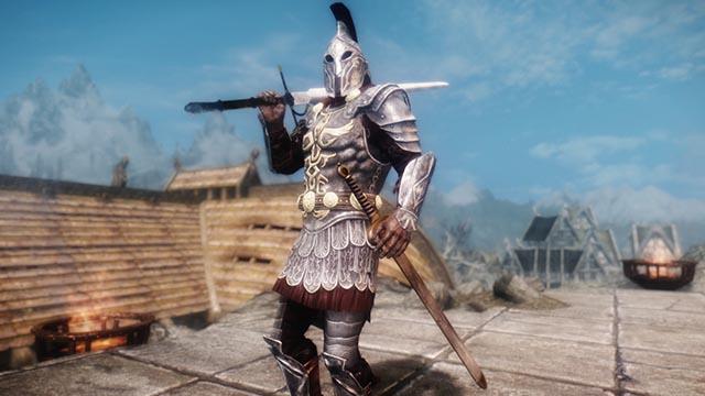 Погружающее оружие для Skyrim