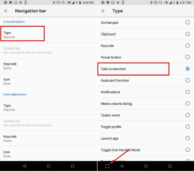Настройте панель навигации на Android 6